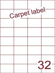 Etiket carpetlabel wit 52,5x37,1 (32) ds1000vel A4 (H32-4)