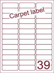 Etiket carpetlabel wit 63,5x21,2 (39) ds1000vel A4 (A39-3)