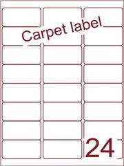 Etiket carpetlabel wit 63,5x33,9 (24) ds1000vel A4 (A24-3)