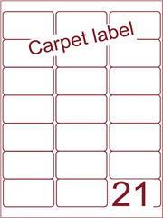 Etiket carpetlabel wit 63,5x38,1 (21) ds1000vel A4 (A21-3)
