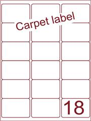 Etiket carpetlabel wit 63,5x46,6 (18) ds1000vel A4 (A18-3)