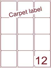 Etiket carpetlabel wit 63,5x72 (12) ds1000vel A4 (A12-3)