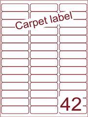 Etiket carpetlabel wit 65x20 (42) ds1000vel A4 (A42-3)