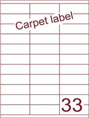 Etiket A4 carpetlabel 70x25,4 (33) ds 1000vel (HG33-3)
