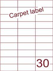 Etiket carpetlabel wit 70x29,7 (30) ds1000vel A4 (H30-3)