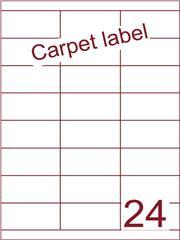Etiket carpetlabel wit 70x33,9 (24) ds1000vel A4 (HG24-3B)