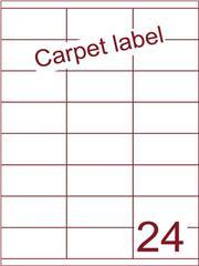 Etiket carpetlabel wit 70x35 (24) ds1000vel A4 (HG24-3S)