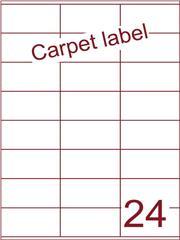 Etiket carpetlabel wit 70x36 (24) ds1000vel A4 (HG24-3X)