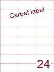 Etiket carpetlabel wit 70x37,1 (24) ds1000vel A4 (H24-3)