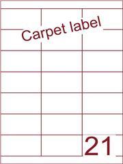 Etiket carpetlabel wit 70x38,1 (21) ds1000vel A4 (HG21-3)