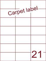 Etiket A4 carpetlabel 70x42,4 (21) ds 1000vel (H21-3)