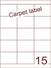 Etiket carpetlabel wit 70x52 (15) ds1000vel A4 (HG15-3)