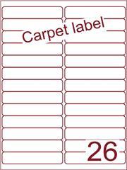 Etiket carpetlabel wit 99,1x21,2 (26) ds1000vel A4 (A26-2)