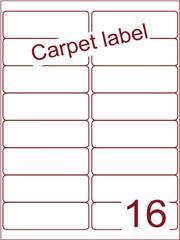 Etiket carpetlabel wit 99,1x33,9 (16) ds1000vel A4 (A16-2)