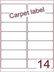 Etiket carpetlabel wit 99,1x38,1 (14) ds1000vel A4 (A14-2)