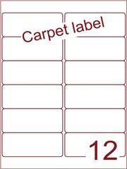 Etiket carpetlabel wit 99,1x42,3 (12) ds1000vel A4 (A12-2B)