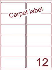 Etiket carpetlabel wit 99,1x46,6 (12) ds1000vel A4 9A12-2S)