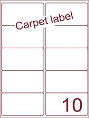 Etiket carpetlabel wit 99,1x56,8 (10) ds1000vel A4 (A10-2)