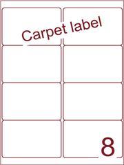 Etiket carpetlabel wit 99,1x67,7 (8) ds1000vel A4 (A8-2)