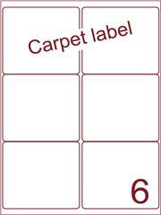 Etiket carpetlabel wit 99,1x93,2 (6) ds1000vel A4 (A6-2)