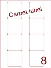 Etiket carpetlabel wit Disklabels 70x72 (8) ds1000vel A4