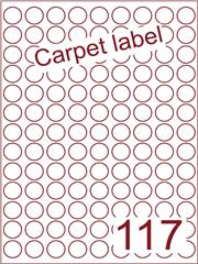 Etiket carpetlabel wit rond ø19mm (117) ds1000vel A4 (R117-9)