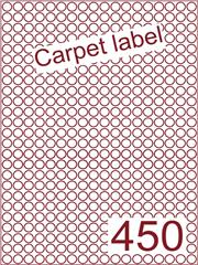 Etiket carpetlabel wit rond ø9mm (450) ds1000vel A4