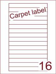 Etiket carpetlabel wit Videolabels 145x17 (16) ds1000vel A4