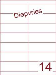 Etiket A4 diepvries belijming 105x38,1 (14) ds 500 vel (HG14-2S)