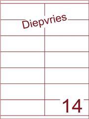 Etiket A4 diepvries belijming 105x40 (14) ds 500 vel (HG14-2)