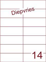 Etiket A4 diepvries belijming 105x42,4 (14) ds 500 vel (H14-2)