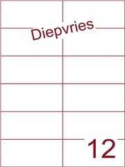 Etiket A4 diepvries belijming 105x49,5 (12) ds 500 vel (H12-2)