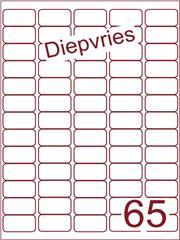 Etiket A4 diepvries belijming 38,1x21,2 (65) ds 500 vel (A65-5)