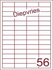 Etiket diepvries belijming 48x20 (56) ds500vel A4 (HG56-4)