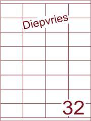 Etiket diepvries belijming 52,5x35 (32) ds500vel A4 (HG32-4)