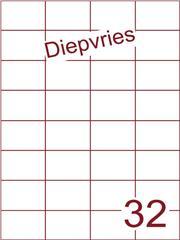 Etiket diepvries belijming 52,5x37,1 (32) ds500vel A4 (H32-4)