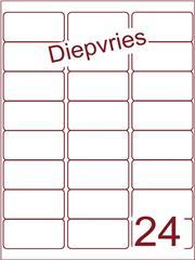 Etiket diepvries belijming 63,5x33,9 (24) ds500vel A4 (A24-3)