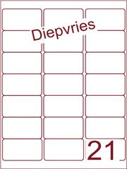 Etiket diepvries belijming 63,5x38,1 (21) ds500vel A4 A21-3)