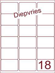 Etiket diepvries belijming 63,5x46,6 (18) ds500vel A4 (A18-3)
