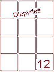 Etiket diepvries belijming 63,5x72 (12) ds500vel A4 (A12-3)