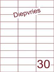 Etiket A4 diepvries belijming 70x29,7 (30) ds 500 vel (H30-3)