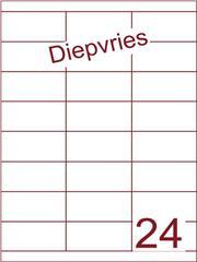 Etiket A4 diepvries belijming 70x33,9 (24) ds 500 vel (HG24-3B)