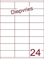 Etiket A4 diepvries belijming 70x35 (24) ds 500 vel (HG24-3S)