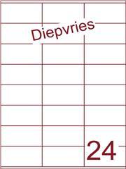 Etiket A4 diepvries belijming 70x36 (24) ds 500 vel (HG24-3X)