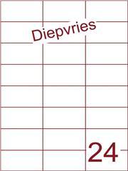 Etiket A4 diepvries belijming 70x37,1(24) ds 500 vel (H24-3)