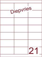 Etiket A4 diepvries belijming 70x38,1(21) ds 500 vel (HG21-3)