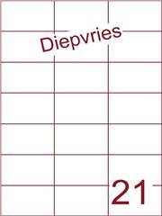 Etiket A4 diepvries belijming 70x42,4 (21) ds 500 vel (H21-3)