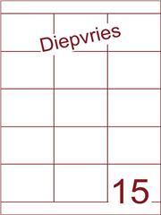 Etiket A4 diepvries belijming 70x52(15) ds 500 vel (HG15-3)