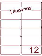 Etiket A4 diepvries belijming 99,1x46,6 (12) ds 500 vel (A12-2S)