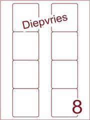 Etiket A4 diepvries belijming Disklabels 70x72 (8) ds500vel